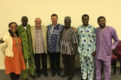 Akan in church at Lancaster with friends from Africa